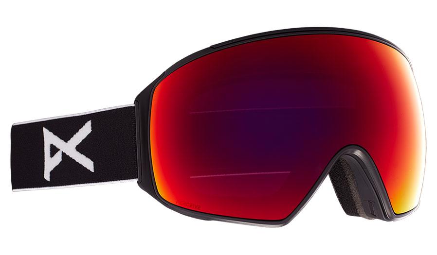 Anon M4 Toric MFI Ski Goggles - Black / Perceive Sunny Red + Perceive Cloudy Burst