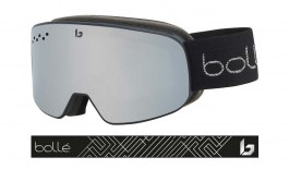 Bolle Nevada Small Ski Goggles - Matte Black Silver / Black Chrome
