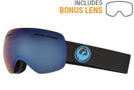 Dragon X1S Ski Goggles - Split / LumaLens Blue Ion + LumaLens Amber