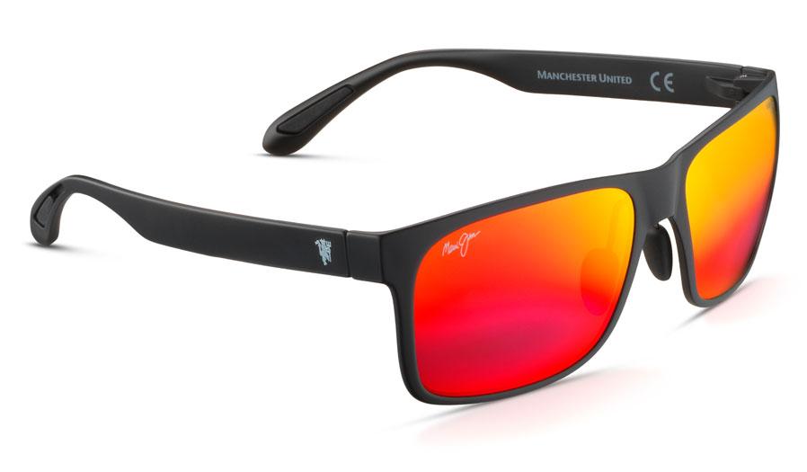 Maui Jim Red Sands Sunglasses - Matte Black / Hawaii Lava Polarised