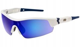 Dirty Dog Sport Edge Sunglasses - White Blue / Blue