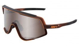 100% Glendale Sunglasses - Matte Translucent Brown Fade / HiPER Silver Mirror + Clear