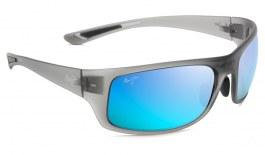 Maui Jim Big Wave Sunglasses - Translucent Matte Grey / Blue Hawaii Polarised