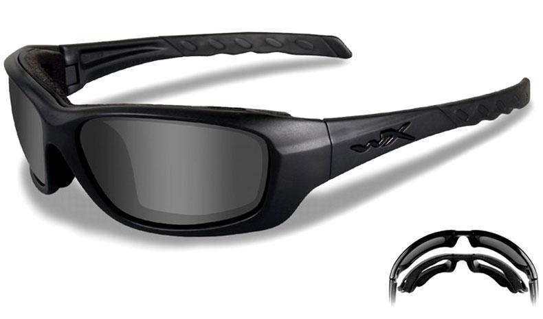 866ee52db3 Wiley X Gravity Sunglasses - Black Ops Edition - Matte Black   Smoke ...