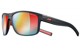 Julbo Renegade Sunglasses - Matte Black & Red / Reactiv Performance 1-3 Light Amplifier Photochromic