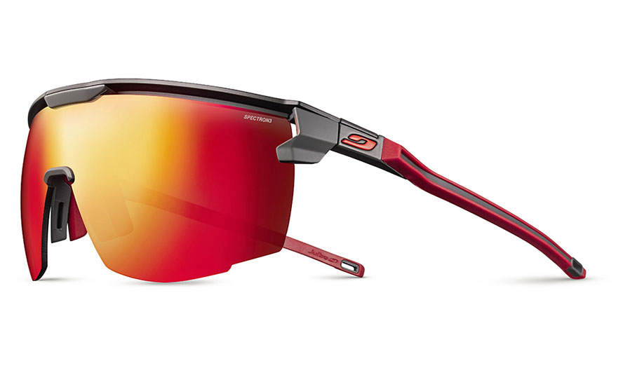 Julbo Ultimate Sunglasses - Matte Black & Red / Spectron 3 CF Red