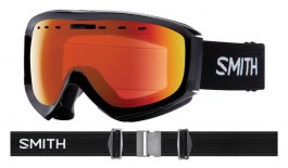 Smith Optics Prophecy OTG Ski Goggles - Black / ChromaPop Everyday Red Mirror