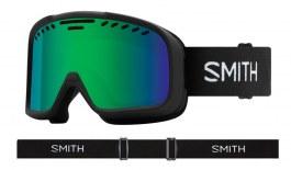 Smith Project Prescription Ski Goggles - Black / Green Sol-X Mirror