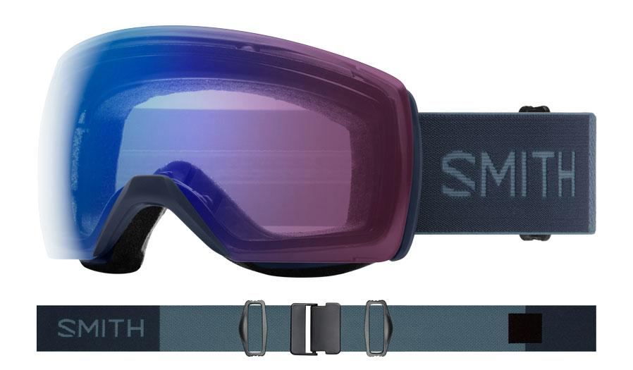Smith Skyline XL Ski Goggles - French Navy / ChromaPop Photochromic Rose Flash