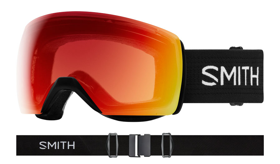 Smith Skyline XL Ski Goggles - Black / ChromaPop Photochromic Red Mirror