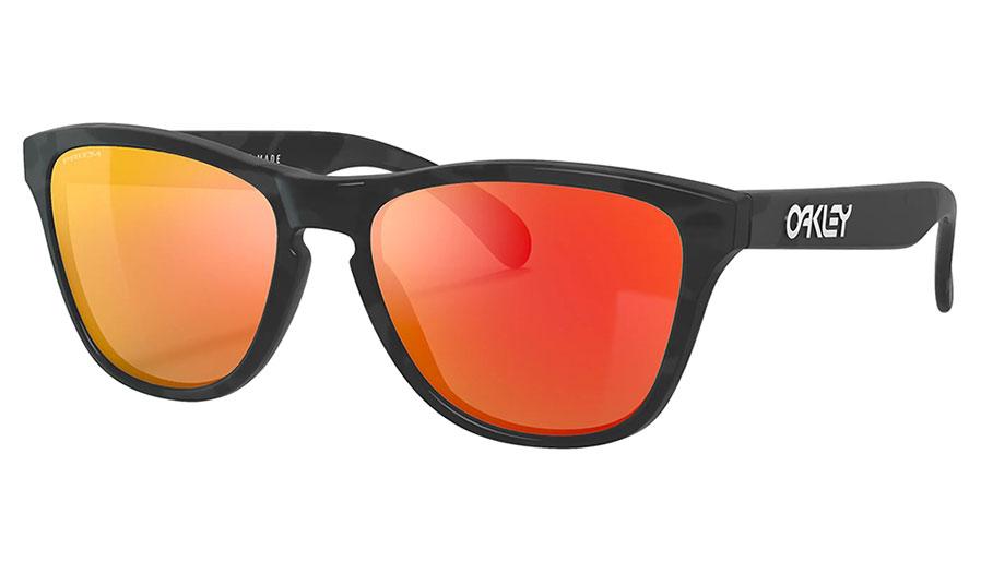 Oakley Frogskins XS Sunglasses - Matte Black Camo / Prizm Ruby