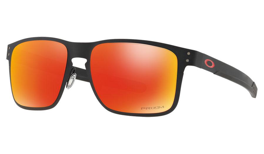 Oakley Holbrook Metal Sunglasses - Matte Black   Prizm Ruby - RxSport 8d4533053c