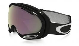 Oakley A Frame 2.0 Ski Goggles - Jet Black / Prizm HI Pink Iridium