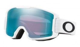 Oakley Line Miner Youth Ski Goggles - Matte White / Prizm Sapphire Iridium