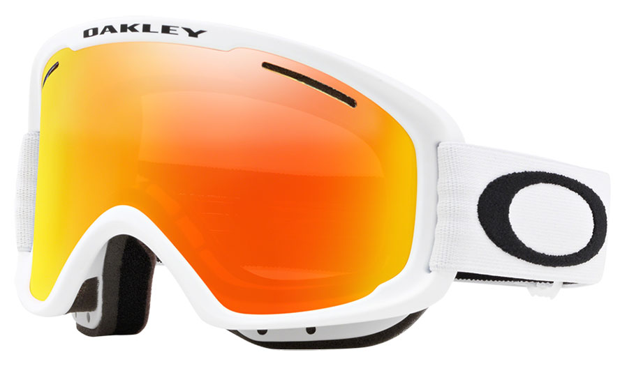 Oakley O Frame 2.0 Pro XM Ski Goggles - Matte White / Fire Iridium + Persimmon