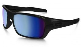 Oakley Turbine Sunglasses - Polished Black / Prizm Deep Water Polarised
