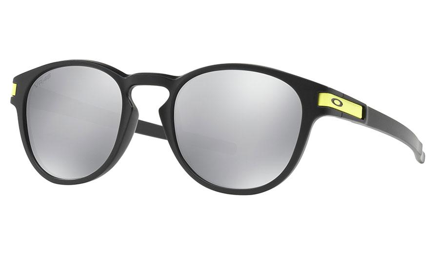 Oakley Latch Sunglasses - Valentino Rossi Signature Series Matte Black / Chrome Iridium