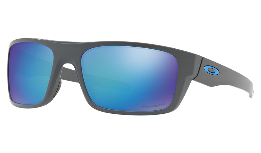 Oakley Drop Point Sunglasses - Matte Dark Grey / Prizm Sapphire Polarised
