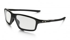 Oakley Crosslink Zero Prescription Glasses - Satin Black Reflective - Essilor Lenses