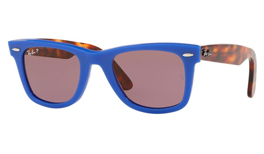 5e1276e5e9 Ray-Ban RB2140 Original Wayfarer Sunglasses - Blue   Red Tortoise ...