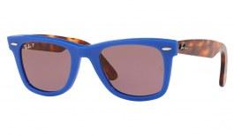 Ray-Ban RB2140 Original Wayfarer Sunglasses - Blue & Red Tortoise / Purple Classic Polarised
