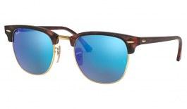Ray-Ban RB3016 Clubmaster Sunglasses - Sand Havana / Blue Flash