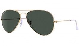 Ray-Ban RB3025 Aviator Sunglasses - Gold / Green Polarised