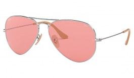 Ray-Ban RB3025 Aviator Sunglasses - Silver / Evolve Pink Photochromic