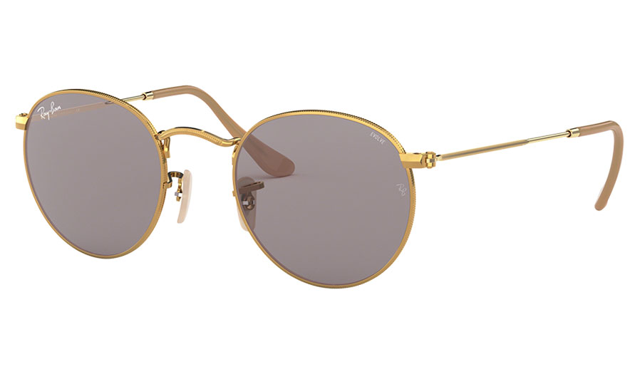 eda57e1124 Ray-Ban RB3447 Round Metal Sunglasses - Gold   Evolve Grey ...
