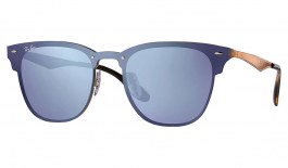 Ray-Ban RB3576N Blaze Clubmaster Sunglasses - Bronze Copper / Violet Mirror