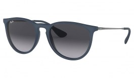 Ray-Ban RB4171 Erika Sunglasses - Blue Rubber / Grey Gradient