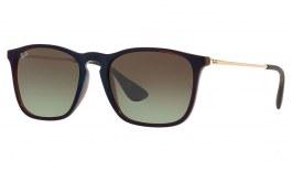 Ray-Ban RB4187 Chris Sunglasses - Brown & Reflective Blue / Brown Gradient