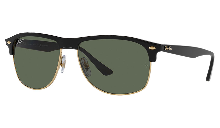 Ray-Ban RB4342 Sunglasses - Black / Green Polarised