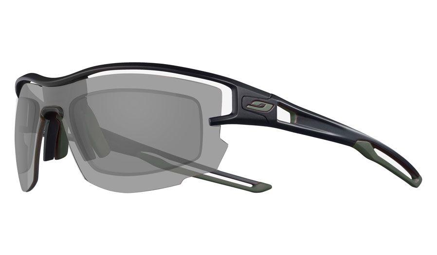 Julbo Aero Prescription Sunglasses - Directly Glazed - Translucent Black & Army