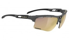 Rudy Project Keyblade Prescription Sunglasses - Clip-On Insert - Matte Charcoal / Multilaser Gold