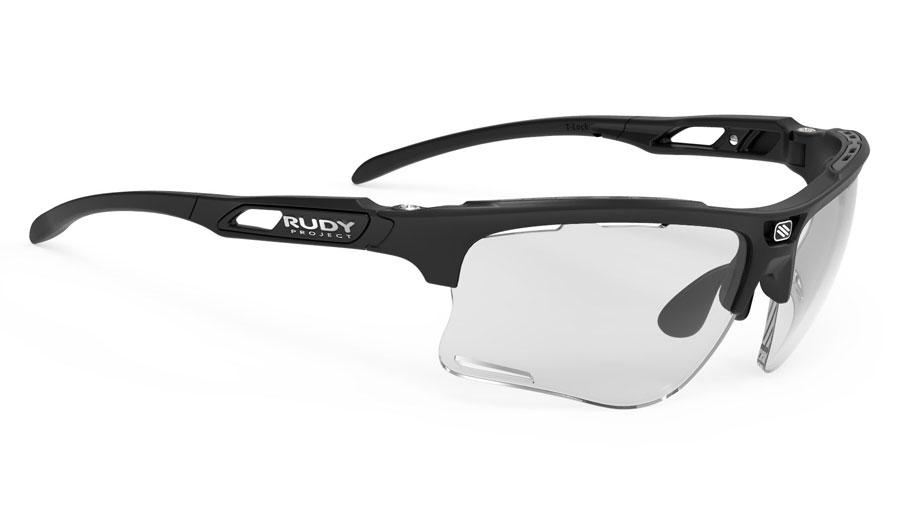 Rudy Project Keyblade Prescription Sunglasses - Clip-On Insert - Matte Black / ImpactX 2 Photochromic Black