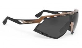 Rudy Project Defender Prescription Sunglasses - Clip-On Insert - Matte Black Bronze Fade / Smoke Black
