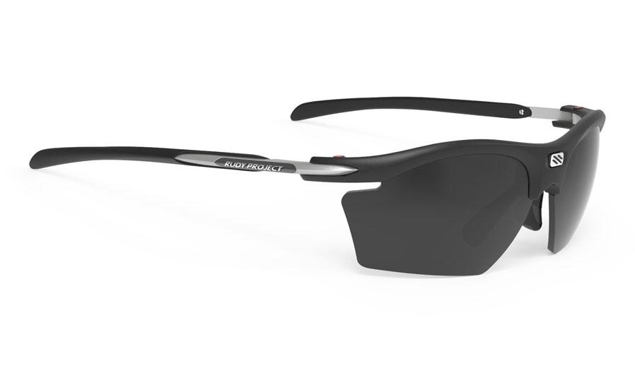 Rudy Project Rydon Slim Prescription Sunglasses - Clip-On Insert - Matte Black / Smoke Black