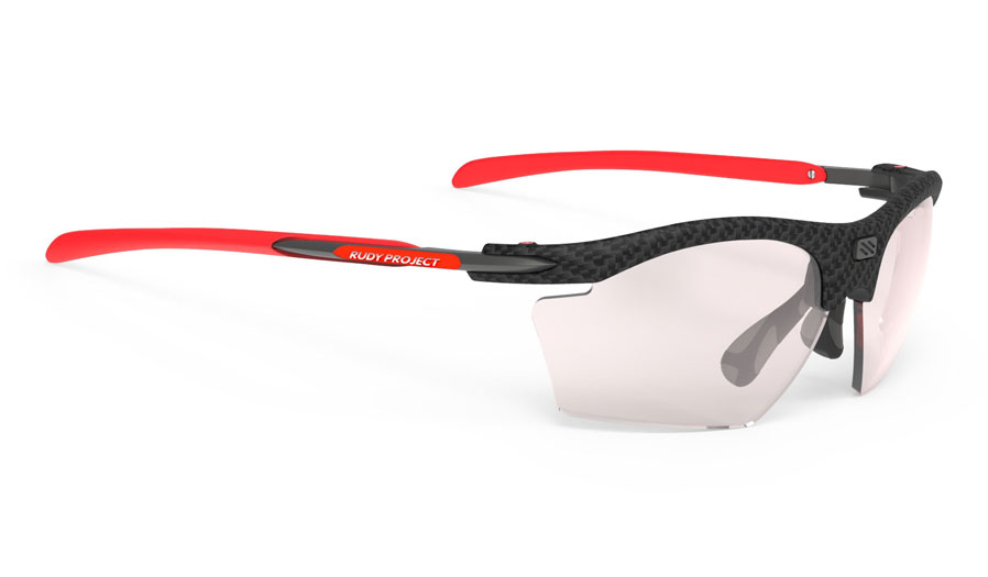 Rudy Project Rydon Slim Prescription Sunglasses - Clip-On Insert - Carbonium / ImpactX 2 Photochromic Laser Red