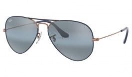 Ray-Ban RB3025 Aviator Sunglasses - Bronze Copper & Dark Blue / Blue Bi-Gradient Mirror