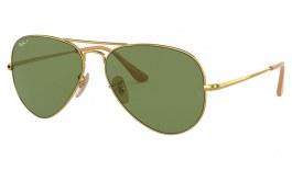 Ray-Ban RB3689 Sunglasses - Gold / Green Polarised