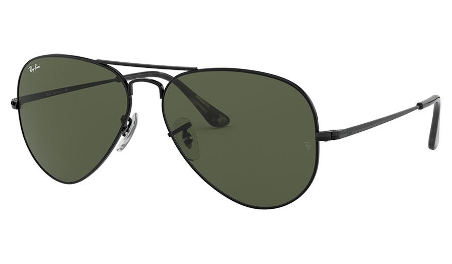 Ray-Ban RB3689 Sunglasses - Black /Green