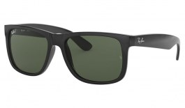 Ray-Ban RB4165 Justin Sunglasses - Black / Green