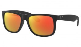 Ray-Ban RB4165 Justin Sunglasses - Black Rubber / Red Mirror