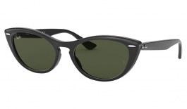 Ray-Ban RB4314N Nina Sunglasses - Black / Green
