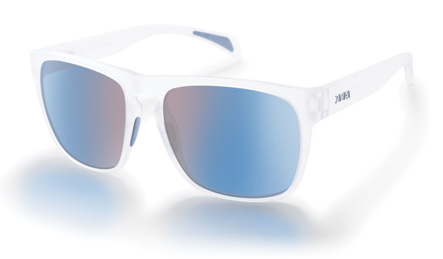 Zeal Capitol Sunglasses - Matte Crystal / Horizon Blue Polarised