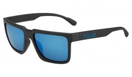 Bolle Frank Sunglasses - Matte Black / HD Polarised Offshore Blue