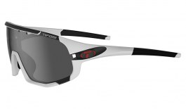 Tifosi Sledge Sunglasses - Matte White / Smoke + AC Red + Clear