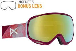 Anon Tempest Ski Goggles - Geo / Sonar Bronze