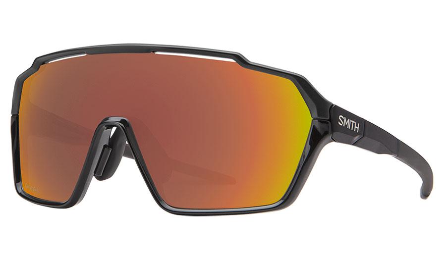 Smith Shift MAG Sunglasses - Black / ChromaPop Red Mirror + Clear